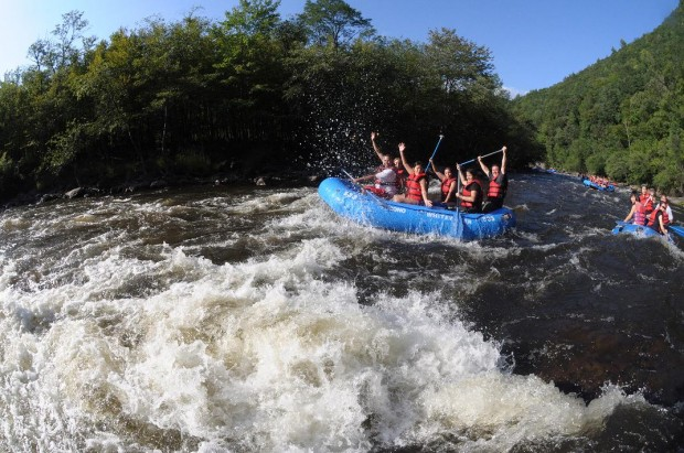 Pocono Whitewater Rafting in Jim Thorpe, Pocono White Water, Rafting Trip in Pennsylvania, Rafting in Jim Thorpe, Raft the Poconos, Dam Release White water, Family Rafting, Biking, Paintball, Skirmish, Rail-Trail